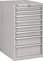 FUTURO Schubladenschrank  27x36E(564x725) Schubladen 2x75, 4x100, 1x150, 1x200 Höhe 1000 mm, Lichtgrau RAL 7035 - toolster.ch