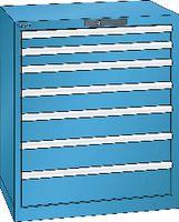LISTA Schubladenschrank 36x27E, 7 Schubladen H 850 -  lichtblau RAL 5012 - toolster.ch