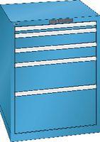 LISTA Schubladenschrank 36x36E, 5 Schubladen H 850 -  lichtblau RAL 5012 - toolster.ch
