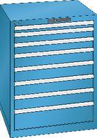 LISTA Schubladenschrank 36x36E, 8 Schubladen H 850 -  lichtblau RAL 5012 - toolster.ch