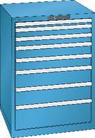 LISTA Schubladenschrank 36x36E, 8 Schubladen H 1000 -  lichtblau RAL 5012 - toolster.ch