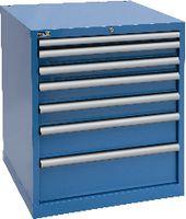 FUTURO Schubladenschrank  36x36E(717x725) Schubl. 1x50, 2x75, 2x100, 1x150, 1x200 Höhe 850 mm, Himmelblau RAL 5015 - toolster.ch
