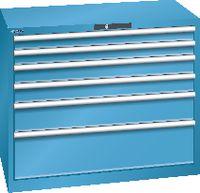 LISTA Schubladenschrank 54x27E, 6 Schubladen H 850 -  lichtblau RAL 5012 - toolster.ch
