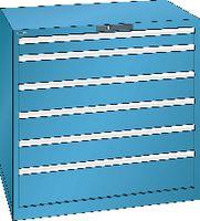 LISTA Schubladenschrank 54x36E, 6 Schubladen H 1000 -  lichtblau RAL 5012 - toolster.ch