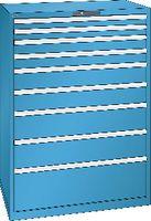 LISTA Schubladenschrank 54x36E, 9 Schubladen H 1450 -  lichtblau RAL 5012 - toolster.ch