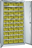 LISTA Behälterschrank RAL7035 / 40 Behälter gelb Gr. 5Z - toolster.ch