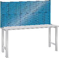 LISTA Lochblech-Rückaufbau für Werkbänke lichtblau RAL 5012 (BxH)2000x700 mm - toolster.ch
