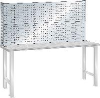 LISTA Lochblech-Rückaufbau für Werkbänke lichtgrau RAL 7035 (BxH)1500x700 mm - toolster.ch