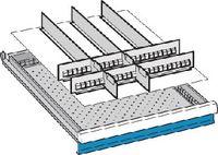 LISTA Einteilungsmaterialsatz 50 / 27x36E / 100.254.0000 - toolster.ch