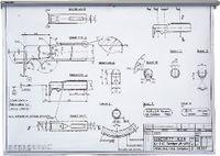 TEKUSA Zeichnungshalter Wandmodell mit Auslöser 500 mm - toolster.ch