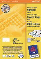 ZWECKFORM Weisse Universal-Etikette Typ 3666, 38 x 21.2 mm - toolster.ch