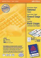 ZWECKFORM Weisse Universal-Etikette Typ 3421, 70 x 25.4 mm - toolster.ch