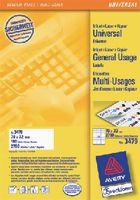 ZWECKFORM Weisse Universal-Etikette Typ 3479, 70 x 32 mm - toolster.ch