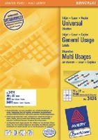 ZWECKFORM Weisse Universal-Etikette Typ 3474, 70 x 37 mm - toolster.ch
