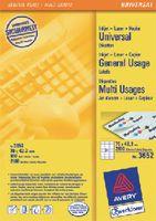ZWECKFORM Weisse Universal-Etikette Typ 3652, 70 x 42.3 mm - toolster.ch