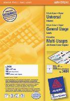 ZWECKFORM Weisse Universal-Etikette Typ 3484, 105 x 37 mm - toolster.ch