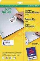 ZWECKFORM Wiederablösbare Etikette Stick & Lift Typ L4737REV, 63.5 x 29.6 mm - toolster.ch