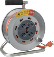 STEFFEN Metall-Kabelrolle 25 m / 4 x T13 / 250V 10A - toolster.ch