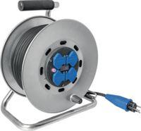 STEFFEN Metall-Kabelrolle 30 m / 4 x T13 / 250V 10A / IP44 - toolster.ch