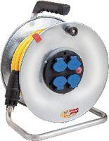 BRENNENSTUHL Metall-Kabelrolle 25 m / 4 x T13 / IP44 - toolster.ch