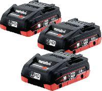 METABO Li-Ion Akkupack LiHD 18 V, 4.0 Ah, Pack à 3 Stück - toolster.ch