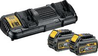 DeWalt Akku-Starterset 54V / XR FlexVolt DCB118X2-QW, 2 x 54 V, 9.0 Ah + DCB 118 - toolster.ch