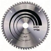 BOSCH Hartmetall-Sägeblatt Optiline Wood Ø 254 x 2.0 x 30 mm / Z60 - toolster.ch