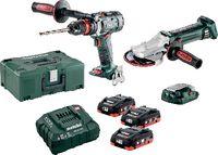 METABO Akku-Bohrschauber und Winkelschleifer Set BS 18 Quick + WF 18 LTX 125 Quick - toolster.ch