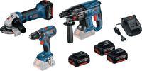 BOSCH Akku-Geräte-Set 3 Tool-Kit mit 3 Akkus und Ladegerät - toolster.ch