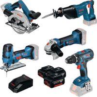 BOSCH Akku-Geräte-Set 5 Tool-Kit mit 3 Akkus und Ladegerät - toolster.ch