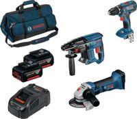 BOSCH Akku-Geräte-Set 18 Volt Profi-Set mit 3 Maschinen GSR 18V-28 + GBH 18V-21 + GWS 18V-LI - toolster.ch