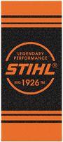 STIHL Badetuch 80 x 180 cm - schwarz/orange - toolster.ch