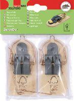 SWISSINNO FSC® Holz-Mausefalle Pack à 2 Stück - toolster.ch