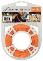 STIHL Mähfaden  rund und leise auf Rolle Ø 2.4 mm x 14.6 m, orange - toolster.ch