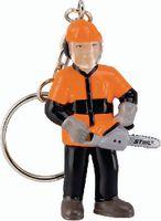"""STIHL Schlüsselanhänger Waldarbeiter """"Jack"""" Figur mit Säge, 6 cm - toolster.ch"""