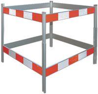Schachtabsperrung aus Aluminium R2 Rot / Weiss 124 x 124 cm - toolster.ch