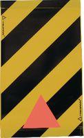 TRIOPAN Warnsignal für Hebebühne gelb/schwarz mit Reflexecken 30x20cm - toolster.ch