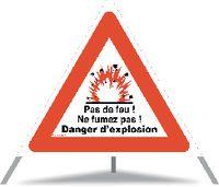 TRIOPAN Faltsignal Danger d'explosion Ausführung N60 60cm - toolster.ch