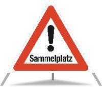 TRIOPAN Faltsignal Sammelplatz Ausführung N90 90cm - toolster.ch