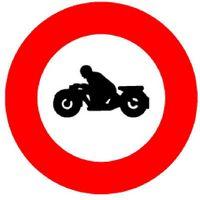 Signaltafel Verbot für Motorräder 2.04 Ausführung Scotchlite HIP 40 cm - toolster.ch