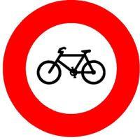Signaltafel Verbot Fahrräder und Mofas Ausführung Scotchlite HIP 40 cm - toolster.ch