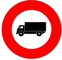 Signaltafel Verbot für Lastwagen 2.07 Ausführung Scotchlite HIP 40 cm - toolster.ch