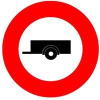 Signaltafel Verbot für Anhänger 2.09 Ausführung Scotchlite HIP 40 cm - toolster.ch