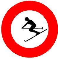 Signaltafel Skifahren verboten 2.15.1 Ausführung Scotchlite HIP 40 cm - toolster.ch