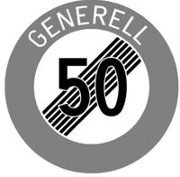 Signaltafel Ende 50 Generell Ausführung Scotchlite HIP 40 cm - toolster.ch