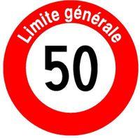 Signaltafel Vitesse maximale 50 Ausführung Scotchlite HIP 40 cm - toolster.ch