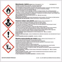 Warn Aufkleber Motorbenzin, bleifrei 160 x 160 mm - toolster.ch