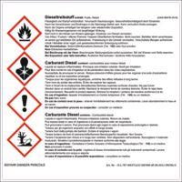Warn Aufkleber Dieseltreibstoff 160 x 160 mm - toolster.ch