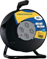 KIBERNETIK Kabelrolle KR30M 3 x 1.5 mm2 30 m / 4 x T13 / 230V - toolster.ch