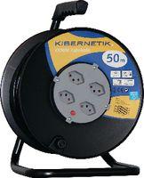 KIBERNETIK Kabelrolle 3 x 1.5 mm2 50 m / 4 x T13 / 230V - toolster.ch